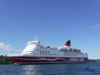 Jag såg många båtar under denna dag. Här dök visst även Viking Line-båten Amorella upp.