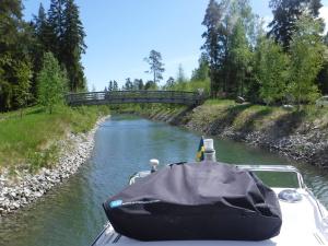 Här har vi nyligen passerat under bron i Svartsundsrännan.