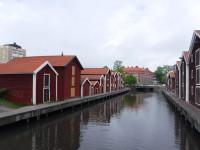 Sjöbodar i Hudiksvall.