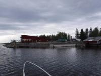"""Den före detta lotshamnen där jag övernattade vid Storklubben invid Järnäsklubb. På bilden håller man på att bygga """"Kafé Lotsen""""."""