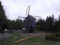 En väderkvarn på Holmön.