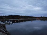 Min natthamn blev vid Byviken på Holmön.