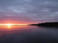 En vacker soluppgång vid Holmön.