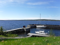 Gästhamnen vid Bjuröklubb.