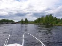Jag närmar mig slussen som är belägen mellan Skelleftehamn och Skellefteå.