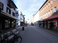 På promenad i Skellefteå.