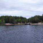 Innan Pitsundsbron öppnades 1984, så fanns det här en bilfärjeled över Pitsundet.