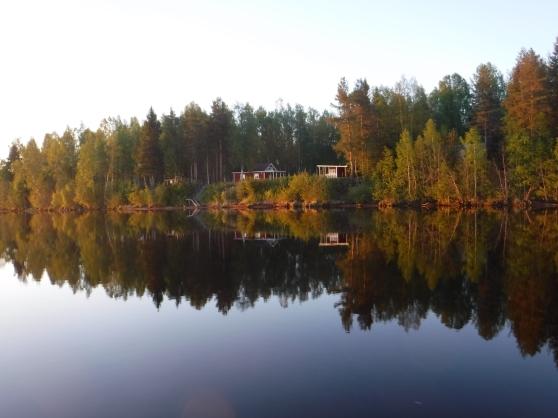 Mellan Luleå och Boden vid Luleälven.
