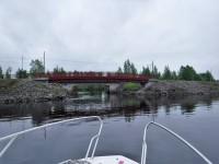 Jag är pä väg in i Strömsundskanalen i Piteå.
