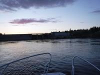 Vid Bodens vattenkraftverk blev det till att vända om för mig. Kraftverket är alltså det nedersta i Luleälven.