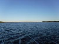 På väg mot Seskaröbron.