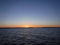 En sen solnedgång.