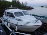 Min båt är framme i Vuono Fiskehamn.