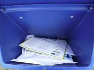 Då var det dags att tömma postlådan efter cirka sju och en halv vecka.