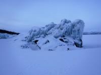 Is vid Torneträsk i närheten av Björkliden.