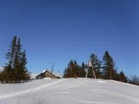 Kapellet med klockstapeln i Arådalen.