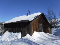 Ett gammalt hus vid Issjön.