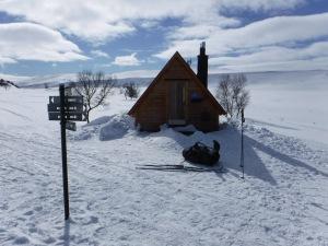 Även vid Gåsån finns en nybyggd raststuga.
