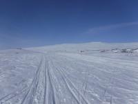 På väg längs vinterleden från Storulvån.