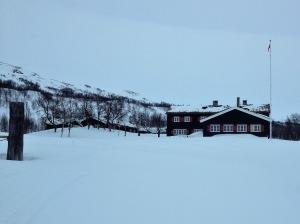 Fjällstationen Nedalshytta i Norge.