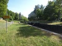 Nedersta slussen i Torshälla kanal.