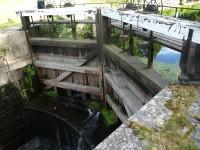 Slussluckor i Torshälla kanal.