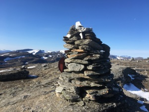 Toppen av Låktatjåkka, som är belägen 1404 meter över havet.