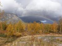 En regnbåge i närheten av Láddjujávri.