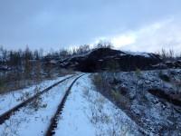 Här ligger spåret kvar på den gamla linjesträckningen vid Søsterbekk.