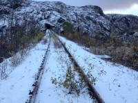 En före detta linjesträckning vid Søsterbekk.