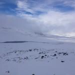 Det är fint med snö, men det är lite kämpigare att gå i snön, än på barmark.