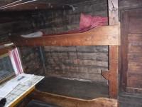Våningssäng i Lisas stuga.