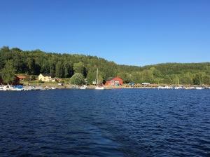 Hamnen i Dals-Ed, där vi sjösatte båten.