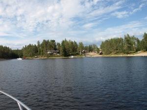 Här har vi tagit oss in i Norge med båten.