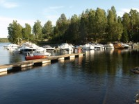 Båthamnen i Otteid.