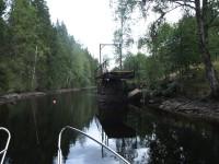 Mellan Töcksfors och Östervallskog finns denna gamla bro, som alltid är i öppet läge numera.