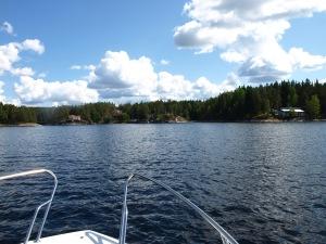 Vår resa går vidare från Töcksfors mot Holmerudsfors.