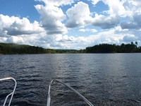 En augustidag på Dalslands kanals vattensystem.