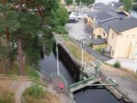 Utsikt mot slussområdet i Håverud.