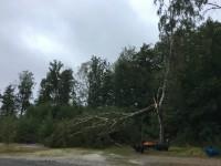 Det verkar ha varit blåsigt vid hamnen i Fröskog.