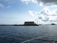 Köpmannehamn var tänkt som en omlastningsplats mellan kanalbåtar och de större fartygen som inte kom in i kanalen.