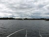 På väg in mot Sunnanå hamn, som ligger strax utanför Mellerud.