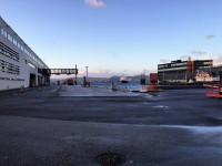 MS Vesterålen ankommer till färjeterminalen i Bergen.