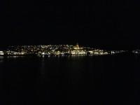 När vi lämnar Kristiansund så är kvällen sen.