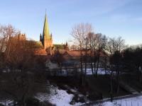Nidaros domkirke i Trondheim är Nordens näst största domkyrka. Den enda domkyrkan i Norden som är större än Nidaros domkirke är Uppsala domkyrka i Sverige.