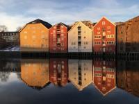 Hus i Trondheim.