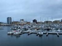 En småbåtshamn i Bodø.