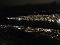 Utsikt över ett mörkt Tromsø.