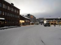 Vinter i Kirkenes, som ligger nära den ryska gränsen.