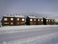 Nybyggda hus i Kirkenes.